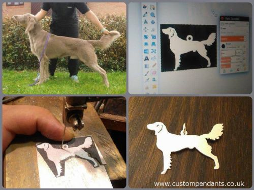 Custom made Silhouette Pet pendant Handmade by saw piercing from a photo